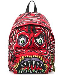 Moschino Monster Backpack - Red