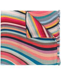 Paul Smith カラーブロック スカーフ - ブルー