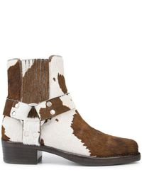 RE/DONE Cow-print Ankle Boots - Brown