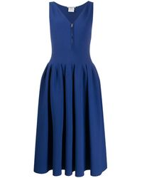 Stella McCartney Robe mi-longue à fermeture zippée devant - Bleu