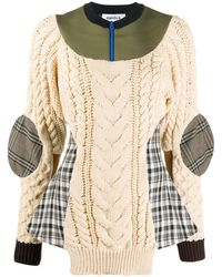 Enfold Deconstructed Cable Knit Jumper - Natural