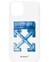 Off-White c/o Virgil Abloh Funda Arrows para iPhone 11 Pro Max - Blanco