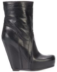 Rick Owens - Pull-on Wedge Boots - Lyst
