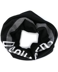 DSquared² Logo Wool Collar - Black
