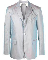 Givenchy Однобортный Пиджак С Переливчатым Эффектом - Серый
