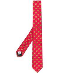 Moschino Cravate Teddy imprimée - Rouge