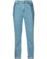 J Brand Ruby Cropped Cigarette Jeans - Blue