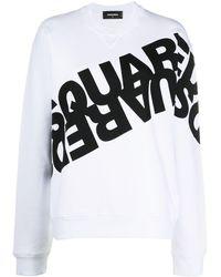 DSquared² Sudadera con logo espejado - Blanco