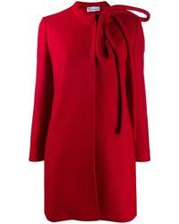 RED Valentino リボントリム コート - レッド