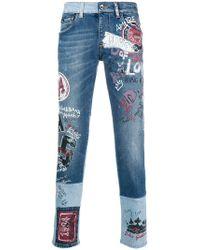 Dolce & Gabbana - Bedruckte Jeans - Lyst