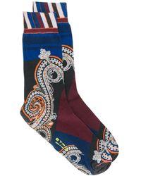 Etro ペイズリー靴下 - ブルー