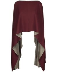 Valentino Cropped Poncho - Rood