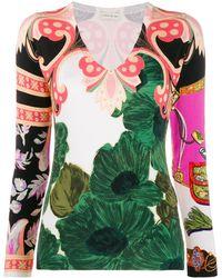 Etro Свитер С Цветочным Принтом Пейсли - Многоцветный
