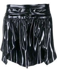 fe1cd4d21 Isabel Marant Alanis Pleated Crepe Mini Skirt in White - Lyst