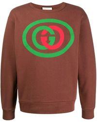 Gucci - Sweater Met GG Print - Lyst