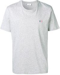 AMI Meliertes T-Shirt mit Logo-Stickerei