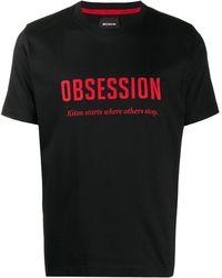 Kiton Футболка С Принтом Obsession - Черный