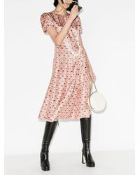 Marc Jacobs Платье The '40s С Принтом - Розовый