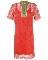JOUR/NÉ Collared Lace Mini Dress - Multicolor