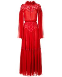 Costarellos - Pleated Lace Gown - Lyst