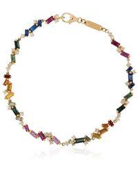 Suzanne Kalan ダイヤモンド&サファイア ブレスレット 18k イエローゴールド - メタリック