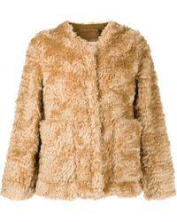 Mackintosh BETTYHILL Beige Mohair Collarless Fur Jacket | LM-1002F - Neutro