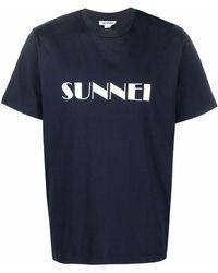 Sunnei ロゴ Tシャツ - ブルー