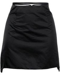 Helmut Lang ラップミニスカート - ブラック