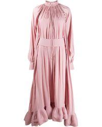 Lanvin ラッフル ドレス - ピンク
