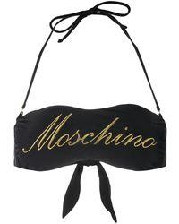 Moschino ロゴ ビキニトップ - ブラック