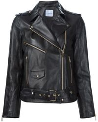 Anine Bing ライダースジャケット - ブラック