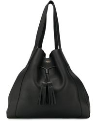 Mulberry Millie Drawstring Tote Bag - Black