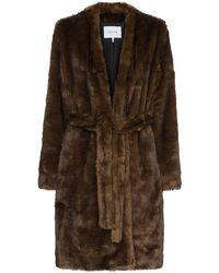 FRAME Faux Fur Coat - Brown