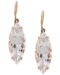 Andrea Fohrman - 18kt Rose Gold Rock Crystal Marquis Earrings - Lyst