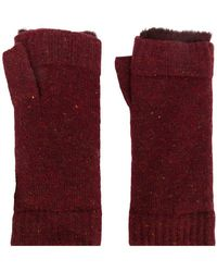 N.Peal Cashmere - Fur Lined Fingerless Gloves - Lyst