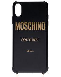 Moschino IPhone X-Hülle mit Kettenriemen - Schwarz