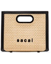 Sacai Small Shopper Tote Bag - Multicolour