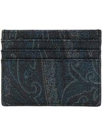 Etro ペイズリーカードケース - ブルー