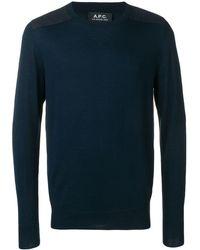 A.P.C. Jersey con cuello redondo - Azul