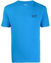 EA7 ロゴ Tシャツ - ブルー