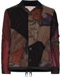 By Walid Bomber con design patchwork - Marrone