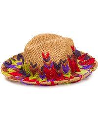 Etro Cappello con ricamo - Rosso