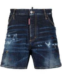 DSquared² Denim Shorts - Blauw