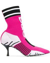 Dolce & Gabbana Ботильоны-носки Lori - Розовый
