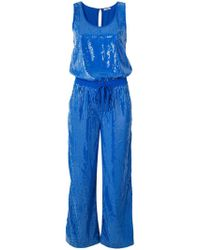 P.A.R.O.S.H. - Draped Drawstring Jumpsuit - Lyst