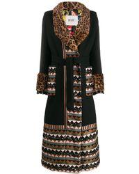 Bazar Deluxe Contrast Panels Coat - Black