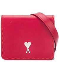 AMI Мини-сумка С Логотипом - Красный