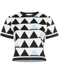 Rudi Gernreich Geometric Print Cropped T-shirt - White