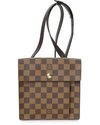 Louis Vuitton Borsa a spalla Damier Ebène Pimlico Pre-owned - Marrone