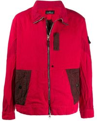 Stone Island Shadow Project Shadow Project Patchwork Jacket - Red
